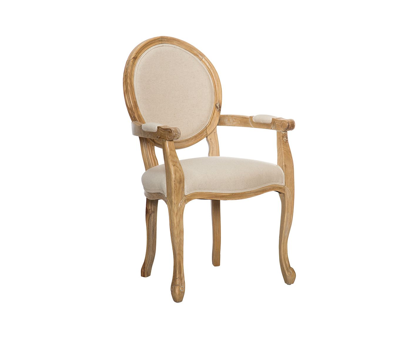 Silla en roble y lino con reposabrazos i natural y crudo westwing home living mobiliario - Westwing sillas ...