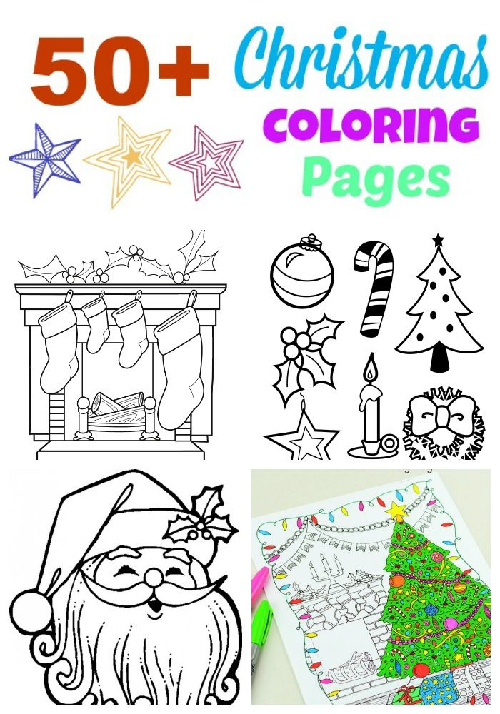 50+ Free Christmas Coloring Pages   Pinterest