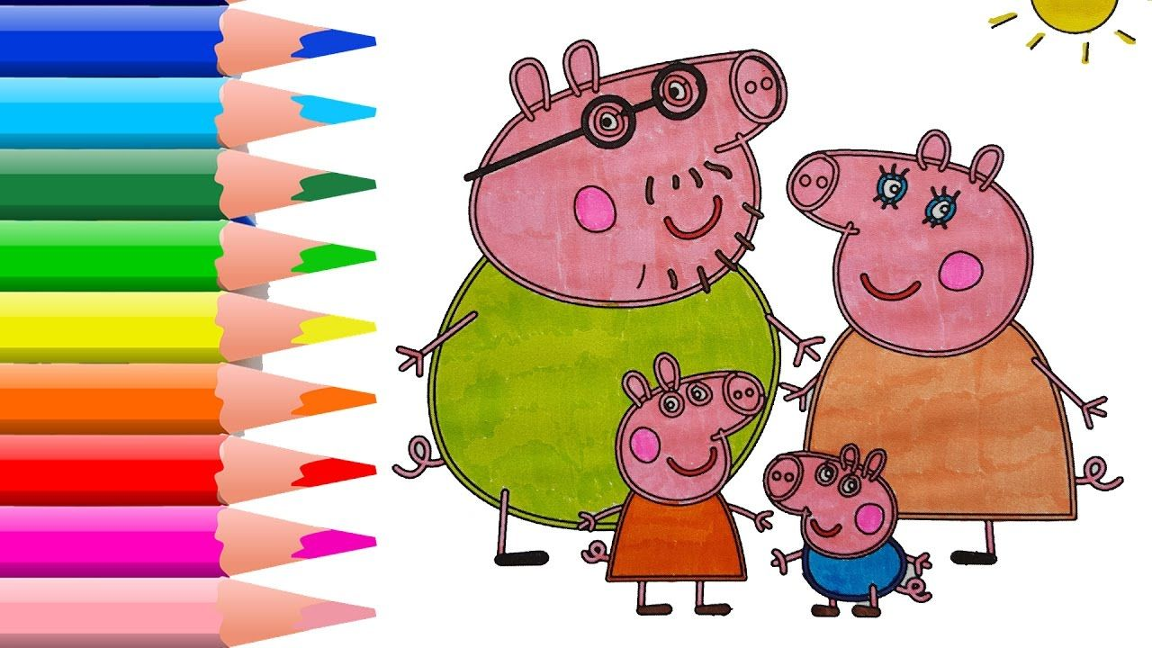 Learn Colors for Kids with Peopa Pig Coloring Pages - Colors for ...