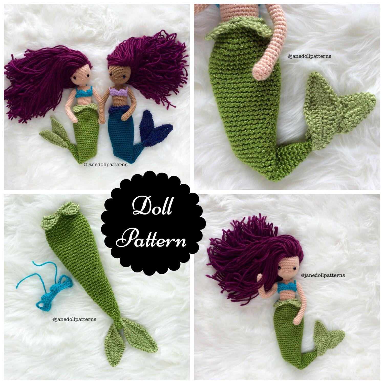 Crochet mermaid doll pattern jane doll pattern crochet mermaid crochet mermaid doll pattern jane doll pattern crochet mermaid pattern amigurumi doll pattern amigurumi mermaid tail bankloansurffo Choice Image