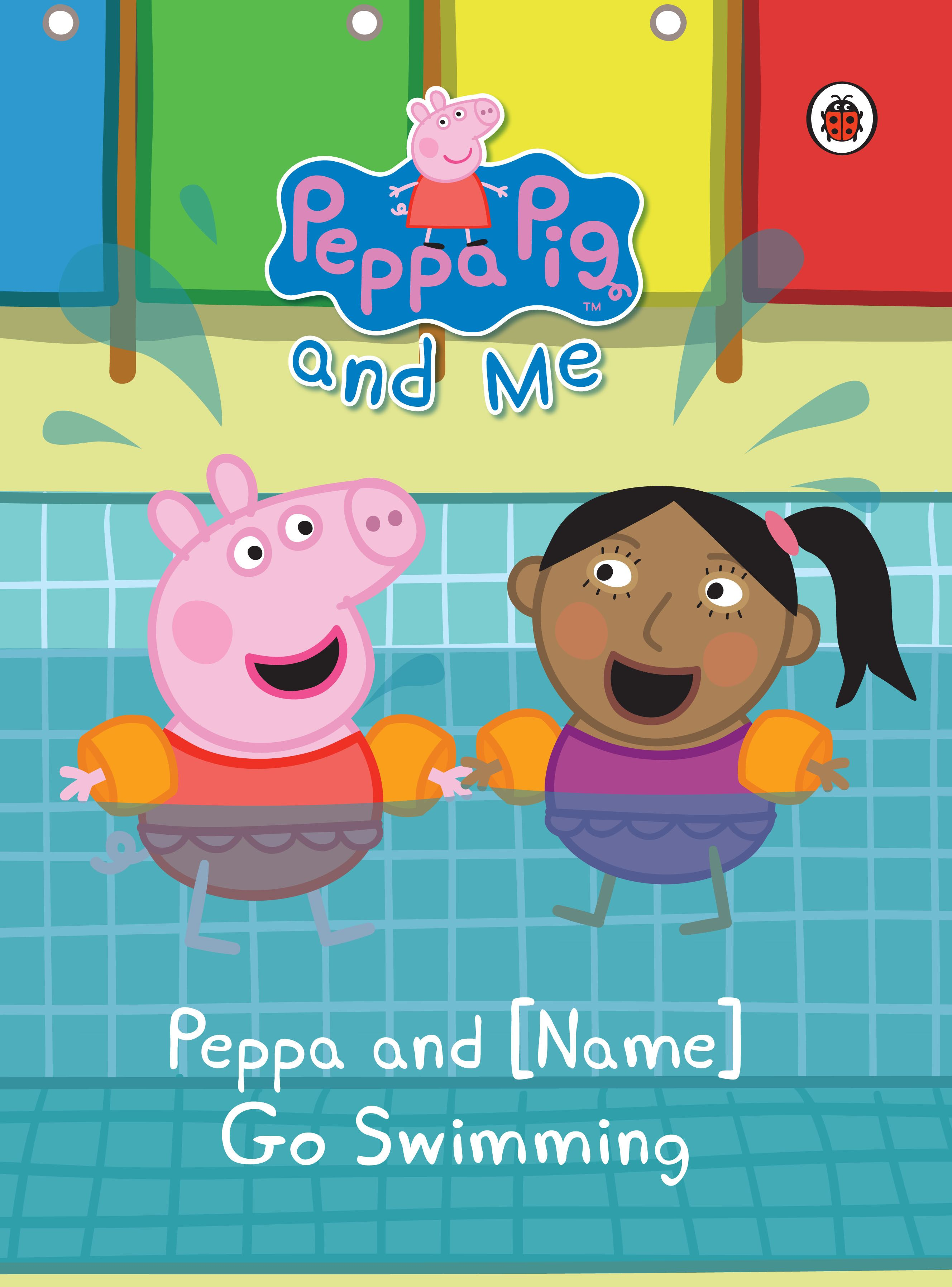 New Personalised Peppa Pig Book Peppa Pig Goes Swimming With Your Child Pig Books