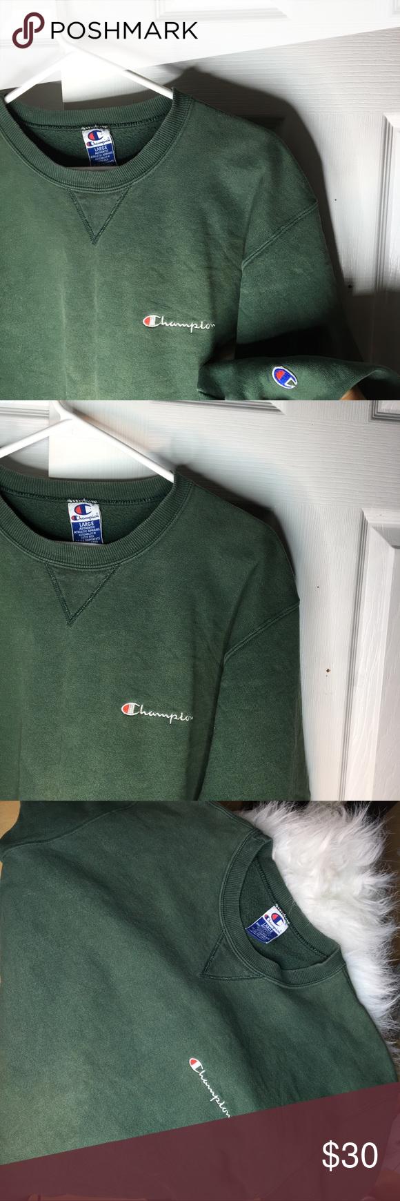 Sold Vintage Champion Dark Green Pullover Vintage Champion Dark Green Sweatshirt Green Champion Sweatshirt [ 1740 x 580 Pixel ]
