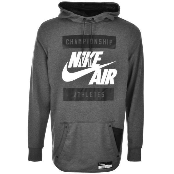 Nike Menswear - Nike Air Logo Hoodie Grey
