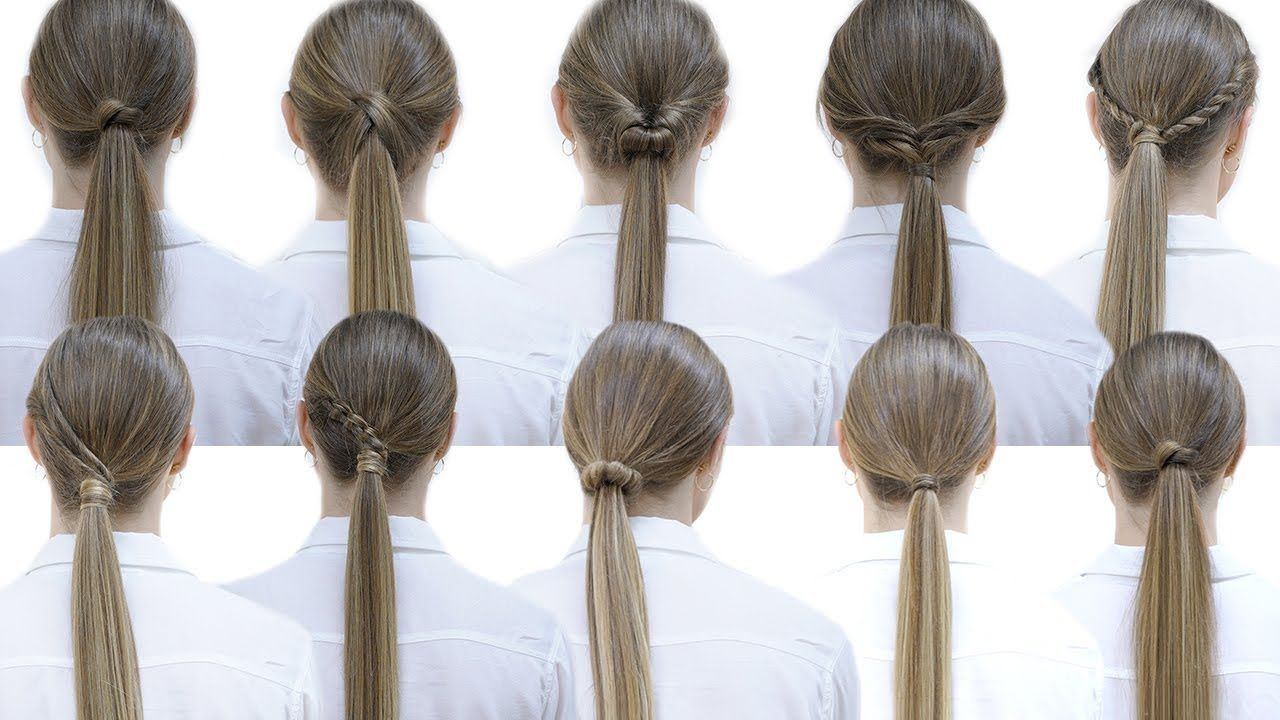 10 Easy Hairstyles With Ponytails For School Patry Jordan Hair