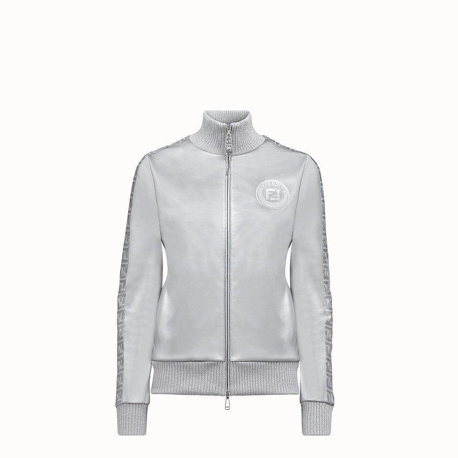 Fendi Prints On Sweatshirt In Tech Fabric Gray Silver Silver Glitter Code Faf069ab3tf0hh3 Nicki Minaj X Fendi Com Fendi Sweatshirts Italian Outfits [ 900 x 900 Pixel ]