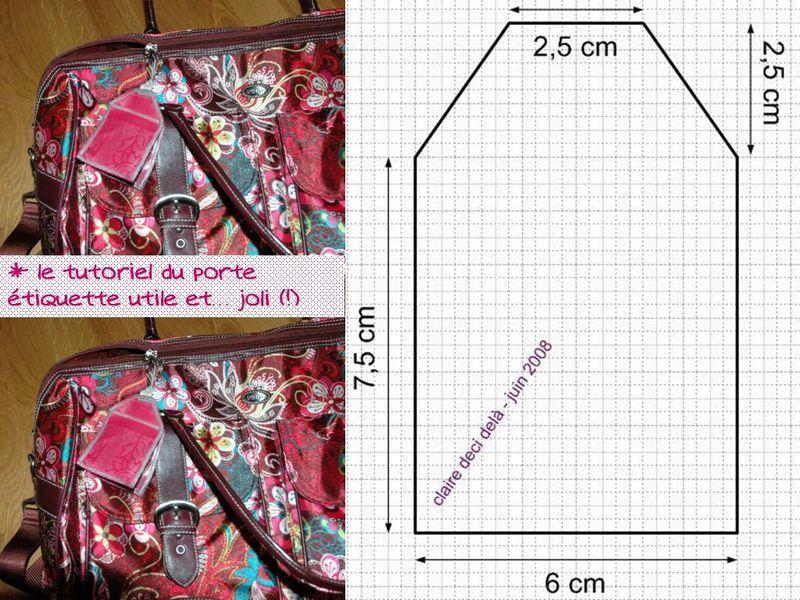 Porte-étiquette bagage tutoriel | Ideas de inspiración | Pinterest ...
