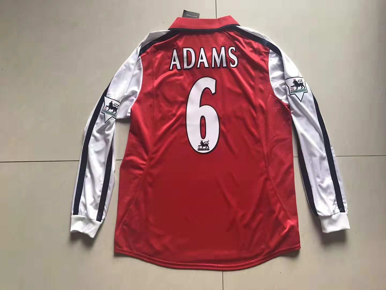 wholesale dealer f9125 8f114 Arsenal F.C. Football club Nike Home Tony Adams #6 Loong ...
