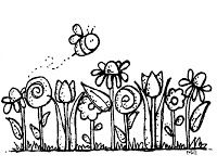 30+ Flower Clipart Black And White Cute
