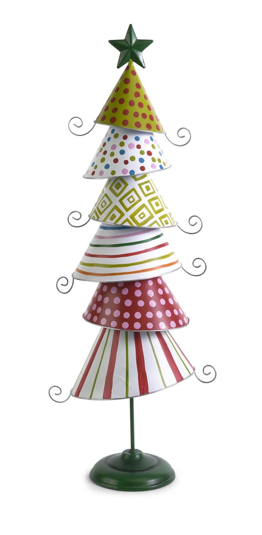 Beautify Your Precious Day with Dazzling Tabletop Christmas Trees : Cute Whimsy Tabletop Metal Tree Decorations