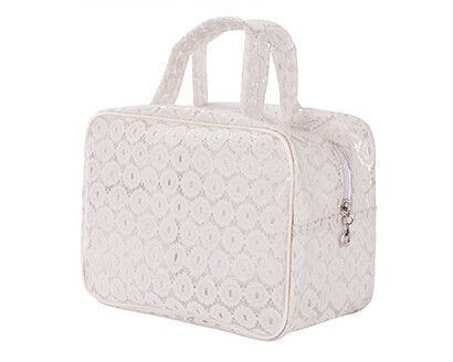 Trendy Transparent Lace Travel Makeup Cosmetic Case 3 Styles 3 Colors