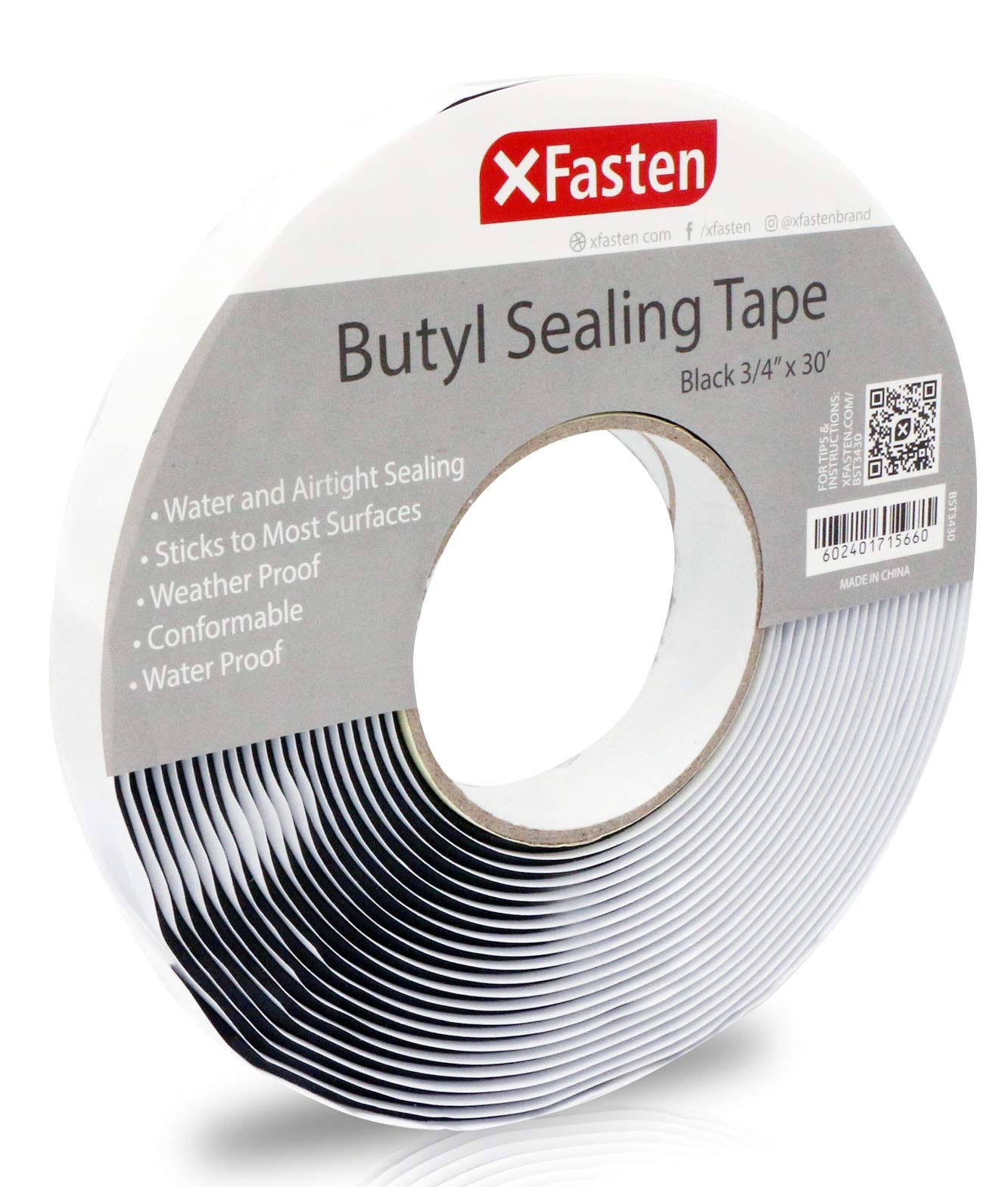 Xfasten Black Butyl Seal Tape 1 8 Inch X 3 4 Inch X 30 Foot Leak Proof Putty Tape For Rv Repair Window Boat Sealing Glass And Ed In 2020 Roof Patch Rv Repair Repair