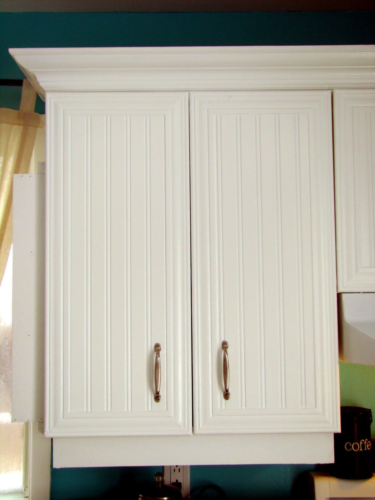 Beadboard And Molding On Cabinet Doors We Could Actually