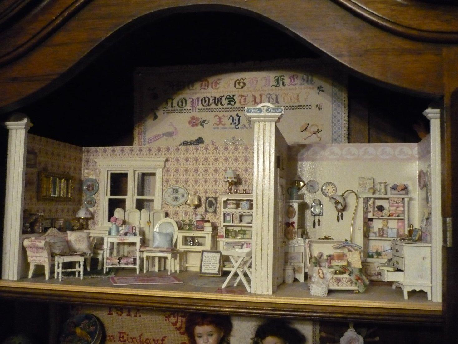 Shabby chic laden miniaturen doll house miniatures for Shabby chic laden