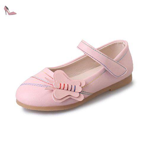 fb430c881 Ouneed® Fille Enfant Uni Mary Jane EU 26-36 (26, Rose) - Chaussures ...