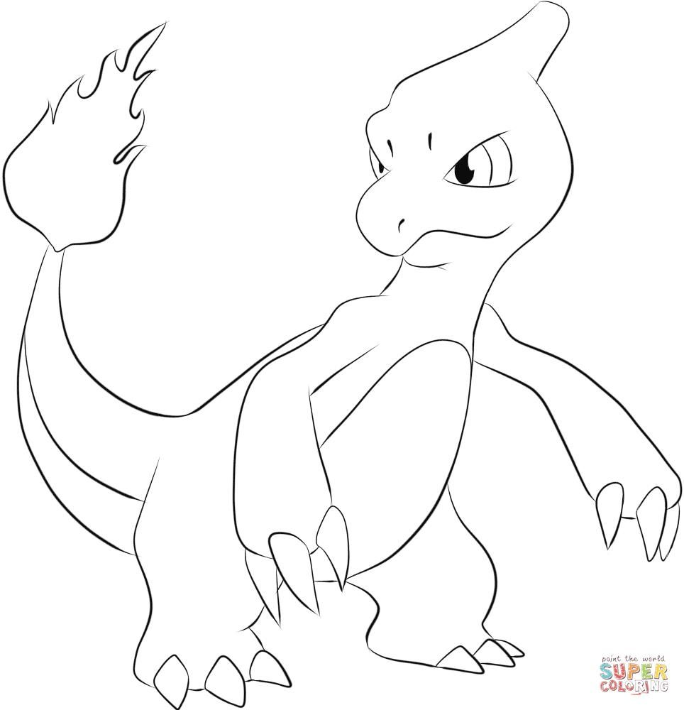 Pokemon coloring pages espeon - Charmeleon Coloring Page From Generation I Pokemon Category Select From 26073 Printable Crafts Of Cartoons Nature Animals Bible And Many More