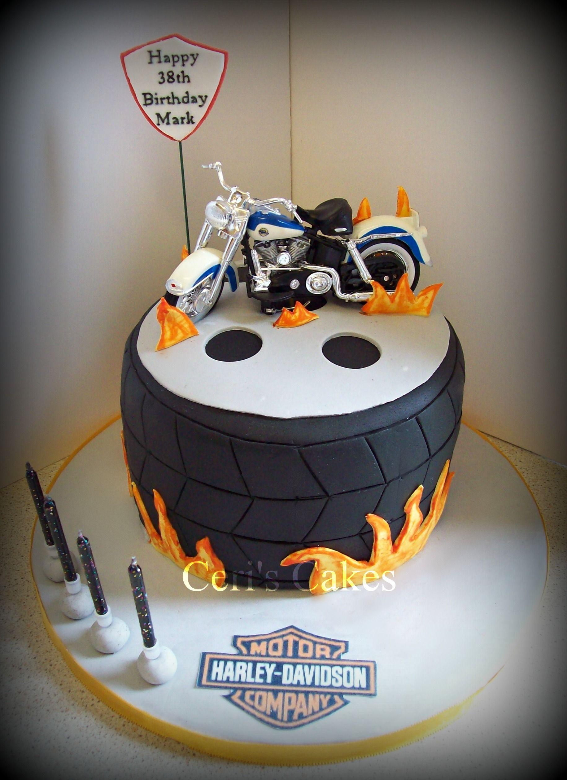 Harley Davidson Cake Decorations Harley Davidson Cake Ceris Cakes Bills Cake Pinterest Bill