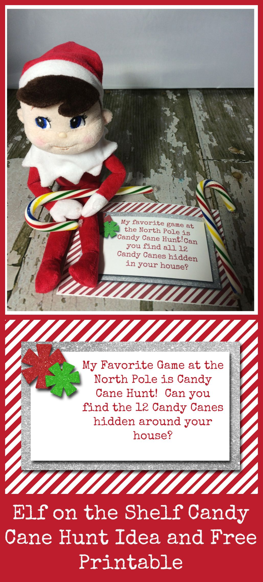 10 easy elf on the shelf ideas and a daily printable for Elf on the shelf chocolate kiss