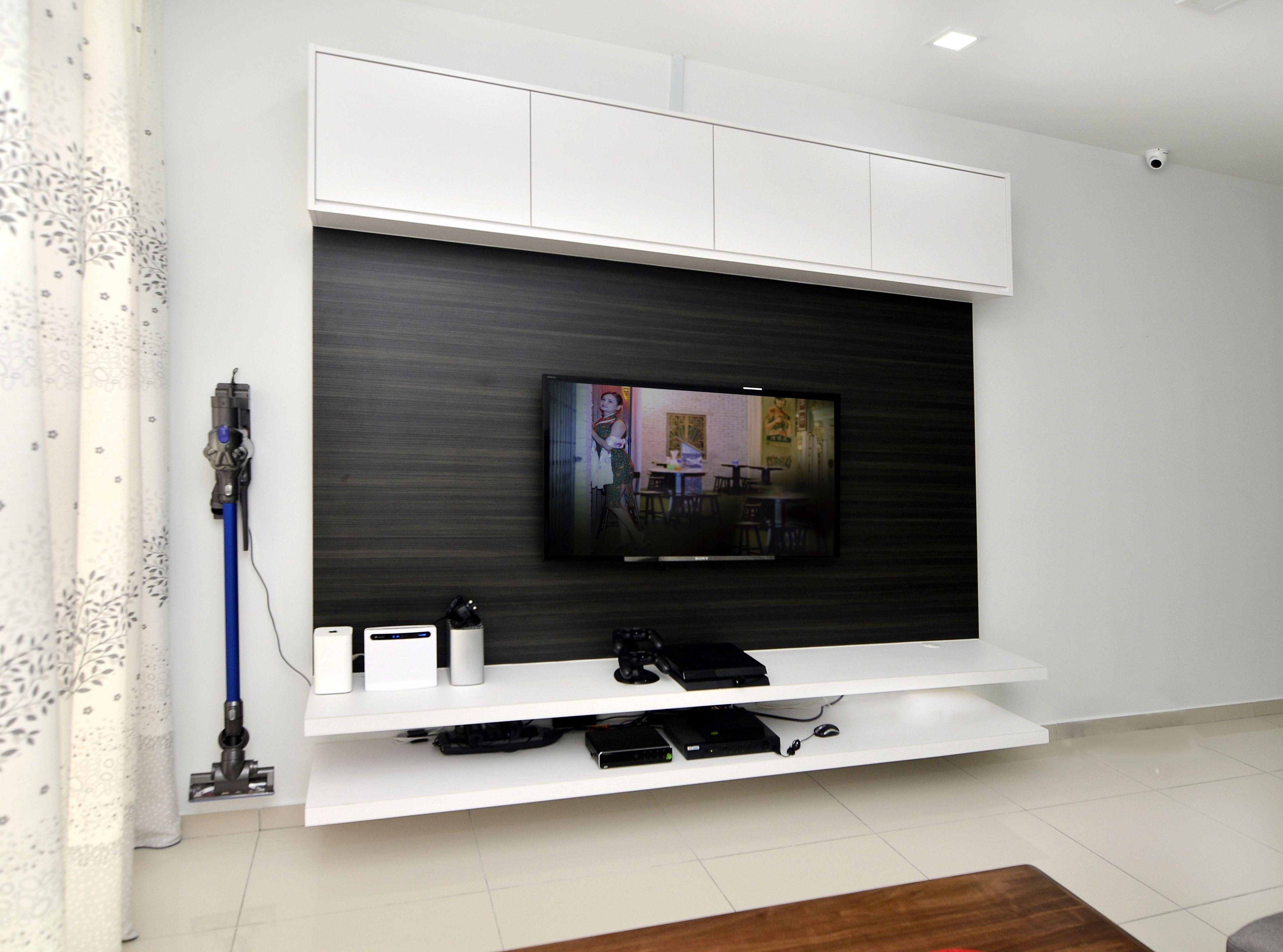 #tv #console #cabinet #white #laminate #wood #livingroom #design