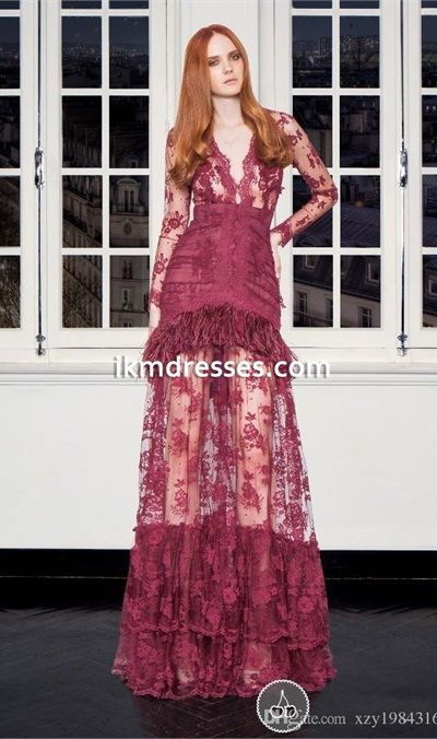 Lace V-Neck Peplum Dress