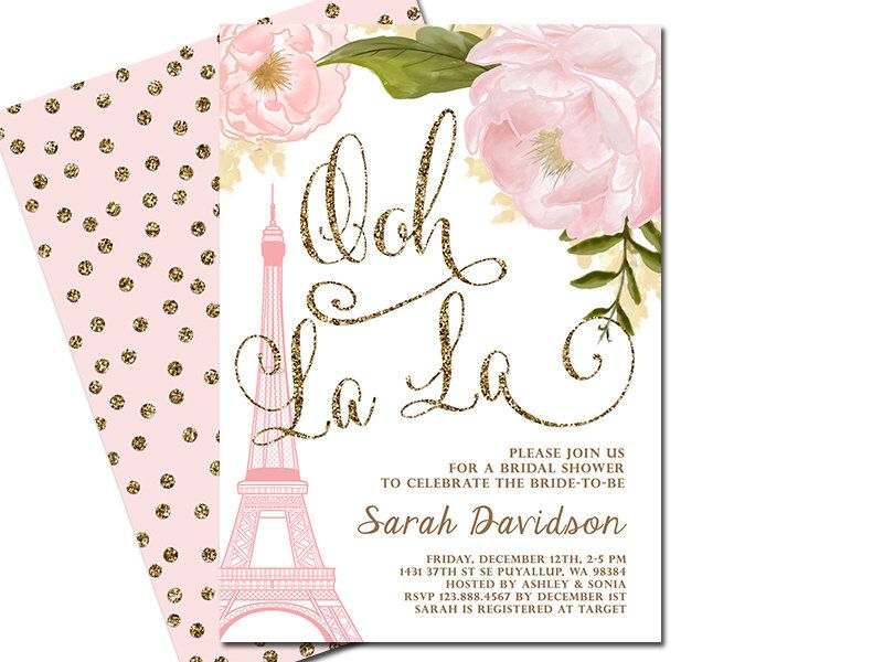 Paris bridal shower invitation eiffel tower french shower paris birthday invitation eiffel tower french by sunnydayscreation stopboris Images