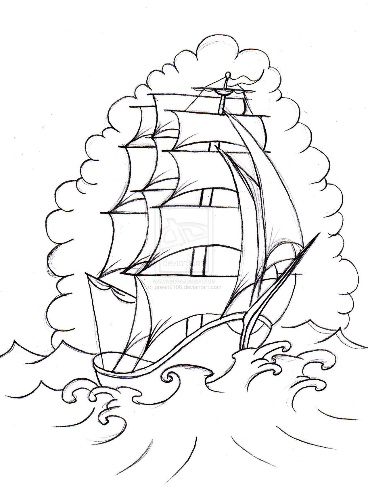 old school boat 2 by green2106 deviantart com on