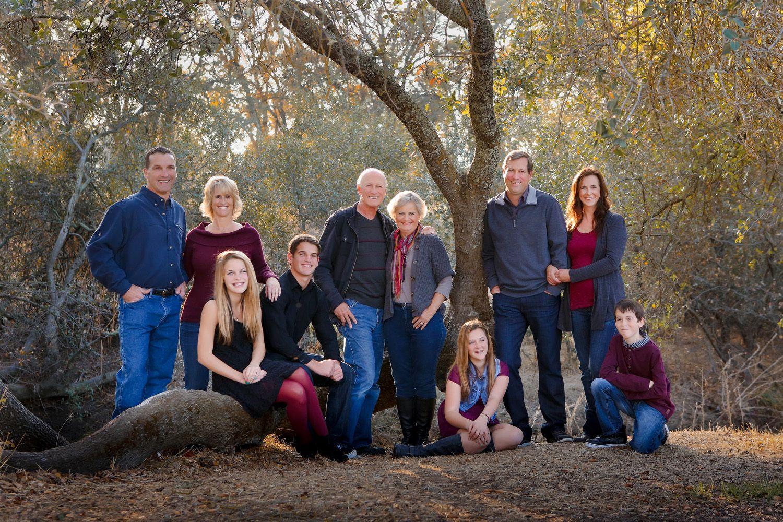 multigenerational family portrait posing