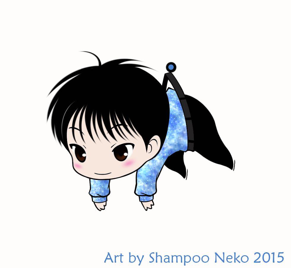 Chibi Yuzu phonestrap wanabe ♥ Art by Shampoo Neko #羽生結弦 #YuzuruHanyu