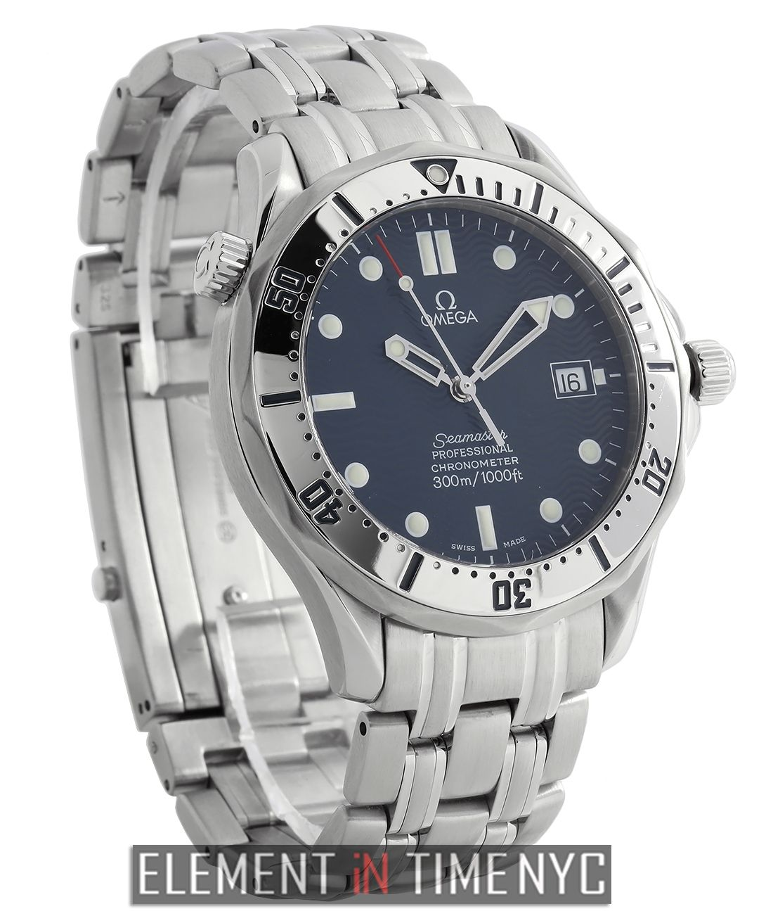 Omega Seamaster 300m Stainless Steel Blue Dial 41mm 1993 Omega Seamaster Omega Luxury Watch Brands