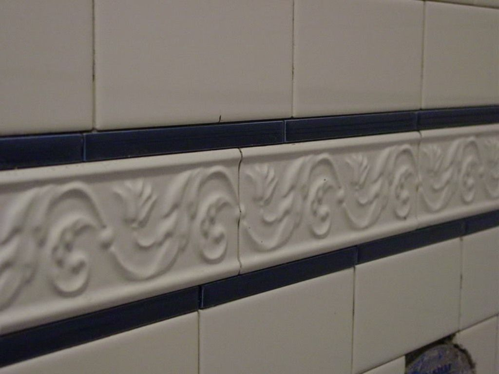 Subway Tile Border Shower