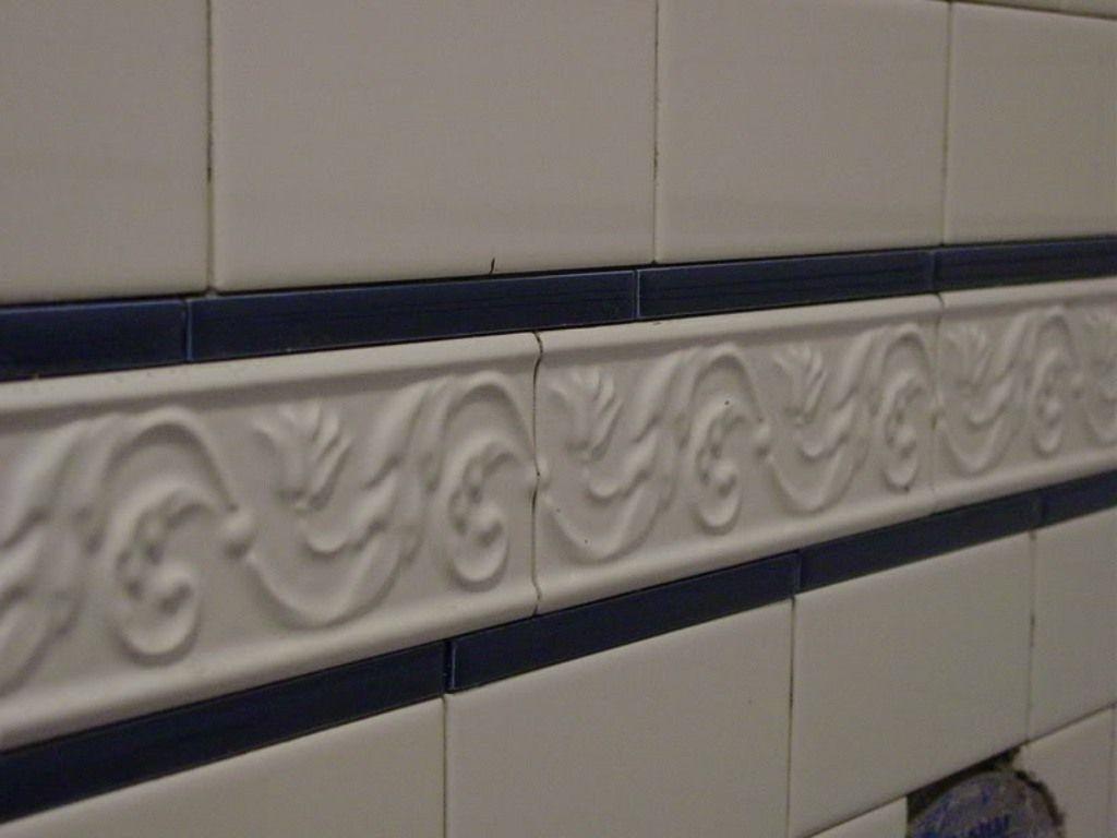 subway tile border shower tile ideas