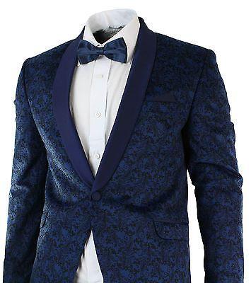 White Peak Lapel Dinner Jacket Tuxedo Slim Fit 1 Button Blazer By AZAR  MAN
