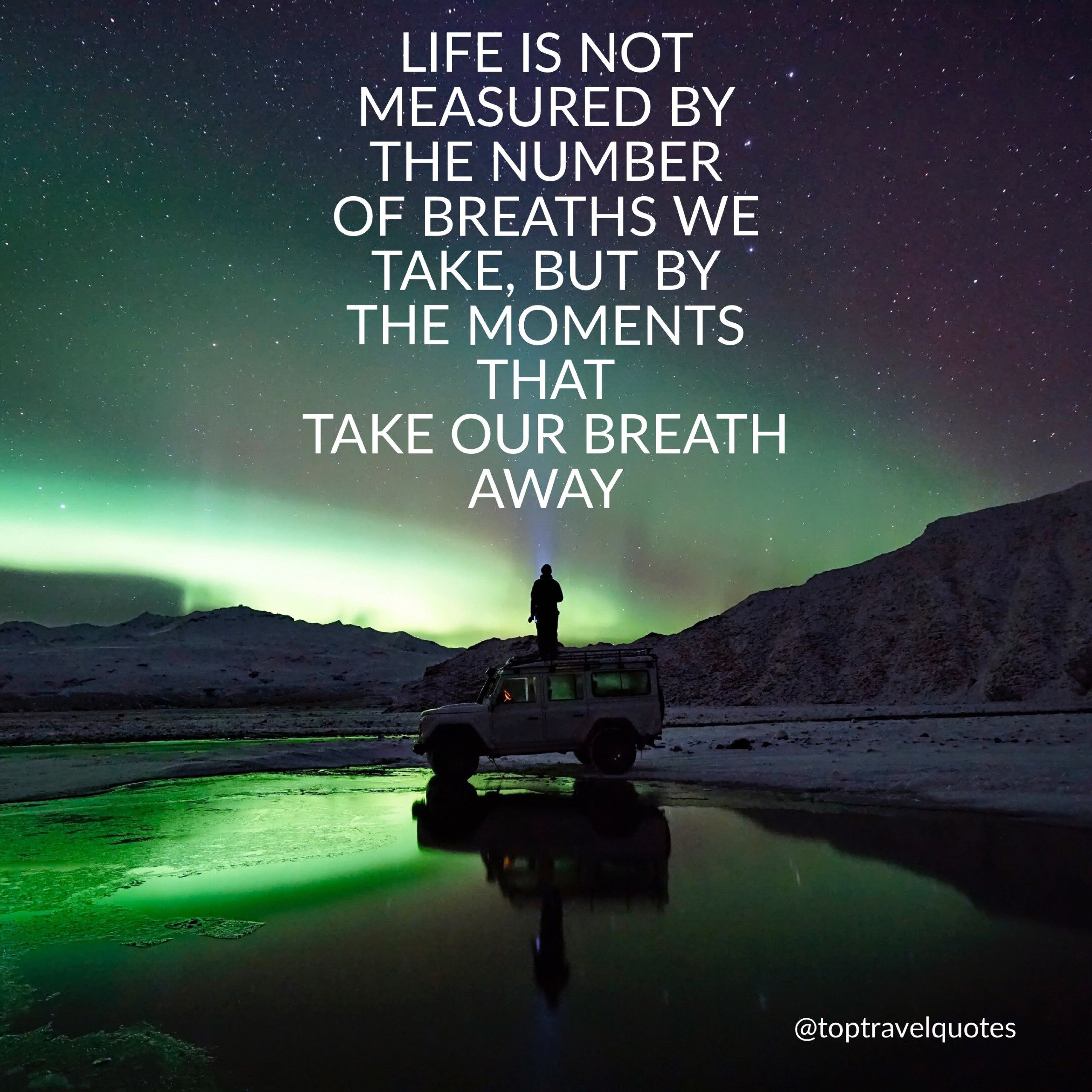 Life Is Not Measured By The Breaths Quote Life Is Not Measuredthe Number Of Breaths We Take Butthe