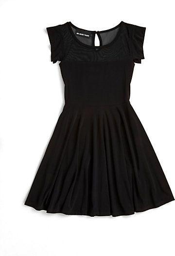 7bdb56e10 Un Deux Trois Girl's Mesh Skater Dress | Hayatın neşesi - Bebek ...