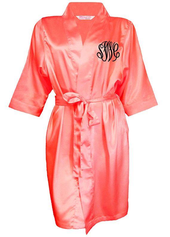 da70168c7b Bridesmaid Robe Bridal Party Robe Custom Robe Embroidered