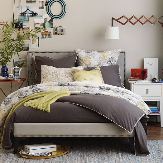 Nailhead Upholstered Headboard | BEDROOM in 2019 | West elm ...