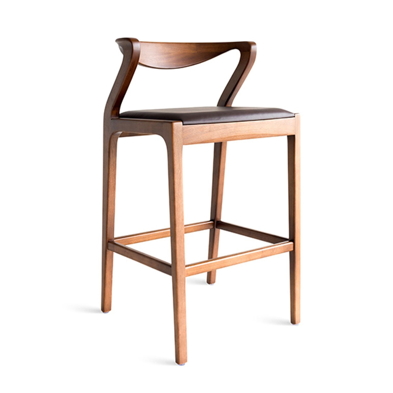 Duda Stool Contemporary, Wood, Barstools Counter Stool by Sossego ...