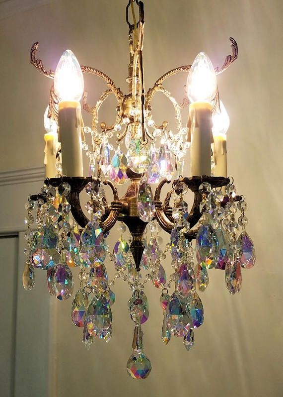 Antique Petite Chandelier Small Crystal Chandelier Aurora Etsy Small Crystal Chandelier Crystal Chandelier Chandelier Small