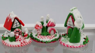 Polymer Clay Christmas Village.Tiny Christmas Village Made Out Of Polymer Clay Polymer