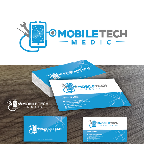 Mobile Tech Medic Iphone Repair Service Needs An Appealing Logo Business Cards Creative Business Cards Creative Templates Business Card Logo
