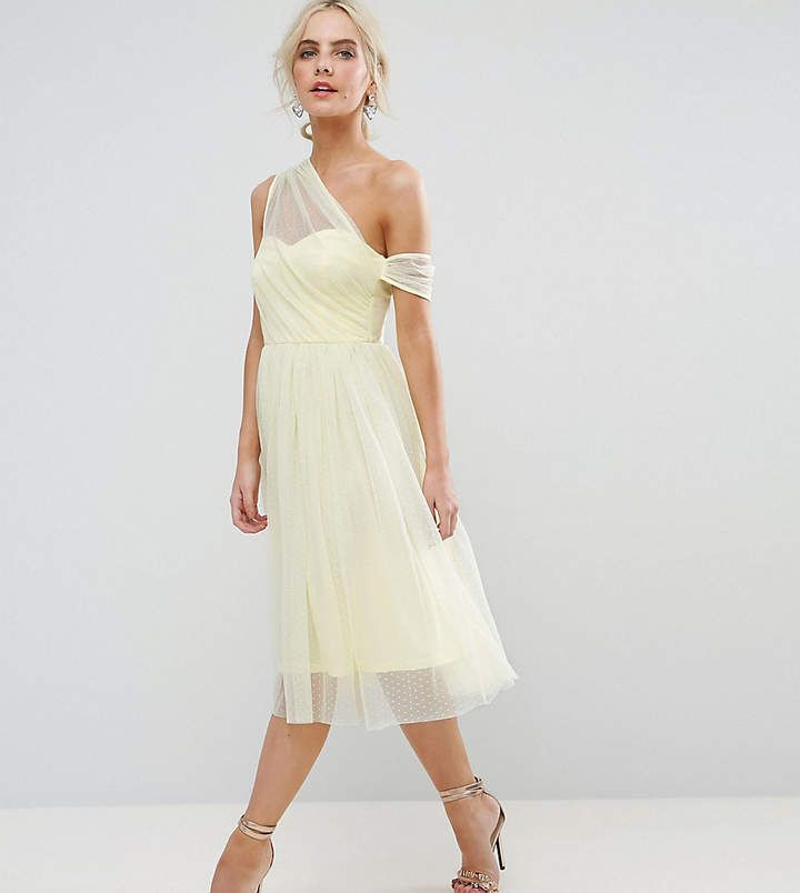Super cute. Mesh One Shoulder Prom Dress. #prom #dress #fashion ...