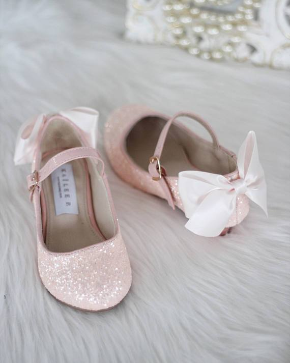 1fd4c551ab6 DUSTY PINK Rock Glitter Maryjane Heels With Satin Bow in 2019 | dec ...