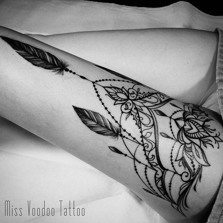 """Miss Voodoo Tattoo (Caro Voodoo) on Instagram: """"Other view (Aurélie) #missvoo…,  #Aurélie #…"""