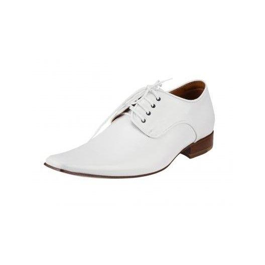 47716bd3e1 Pánske kožené spoločenské topánky biele PT176 - manozo.hu