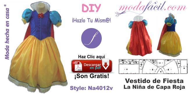 ¡Coser vestidos infantiles produce buenas ganancias! Descarga gratis los moldes de vestido de fiesta de capa roja e inicia en casa tu propio negocio de ropa