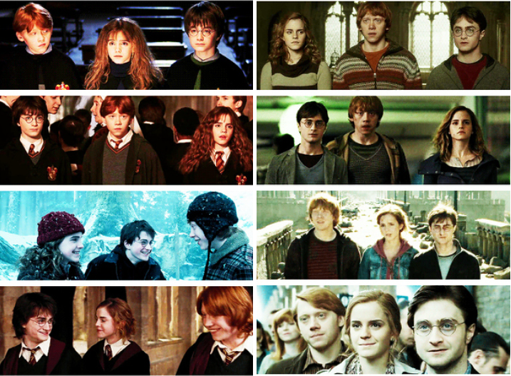 The Golden Trio Through The Ages Harrypotter Harry Potter Hermione Harry Potter Universal Harry Potter Movies