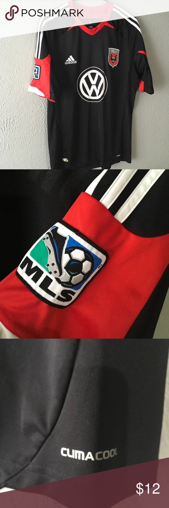 MLS DC UNITED Jersey De rosario print is peeling and can be taken  completely off if you choose to e3f526100