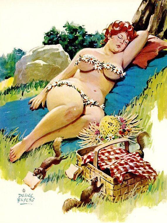 Wall Art Print- Art Reproduction Vintage Sexy Pin-up Girl Vintage ...