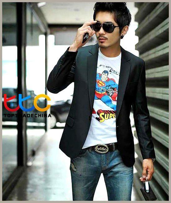 Stylish Men's Suit  http://www.aliexpress.com/store/802966/211328847-508554786/PROMOTION-New-Fashion-Stylish-Men-s-Suit-Men-s-Blazer-Business-Suit-Formal-Suit-Color-Black.html