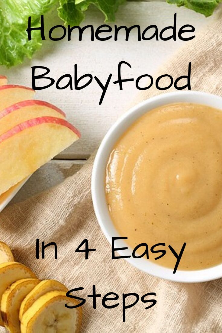How to make your own babyfood in 4 easy steps.