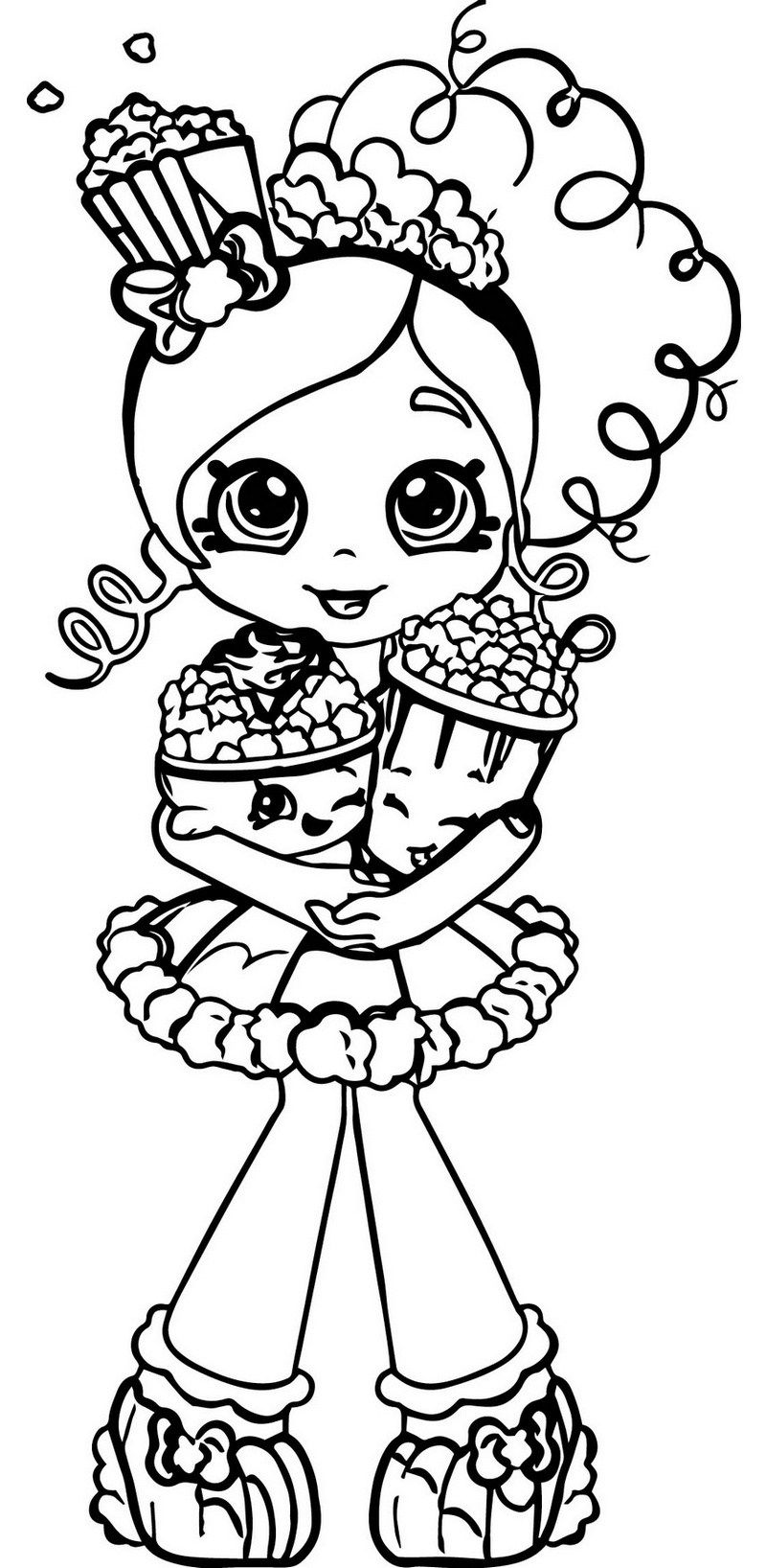 Shopkins Popcorn Coloring And Activity Page Shopkins Colouring Pages Shopkin Coloring Pages Coloring Pages For Girls